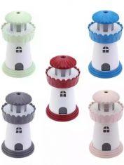 Kinder diffuser Vuurtoren Licht Roze, Blauw, Rood, Grijs, Groen 150 ml Lotus Diffusers